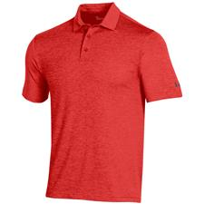 Under Armour Beta Red Playoff 2.0 Heather Polo