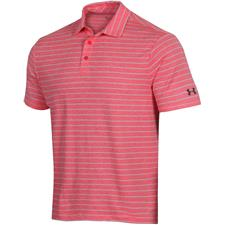 Under Armour Beta Red Playoff 2.0 Tour Stripe Polo