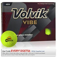 Volvik Custom Logo Vibe Yellow Golf Balls