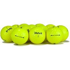 Volvik Vibe Yellow Logo Overrun Golf Balls