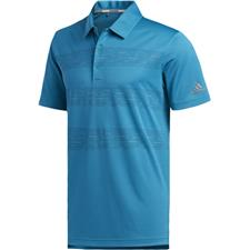 Adidas Active Teal 3-Stripe Print Polo