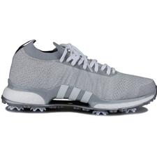 Adidas Grey Two-White-Silver Metallic Tour360 XT Primeknit Golf Shoes