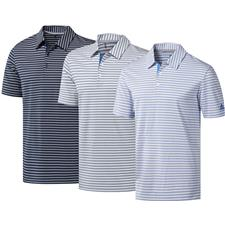 Adidas X-Large Ultimate365 Two-Color Stripe Polo