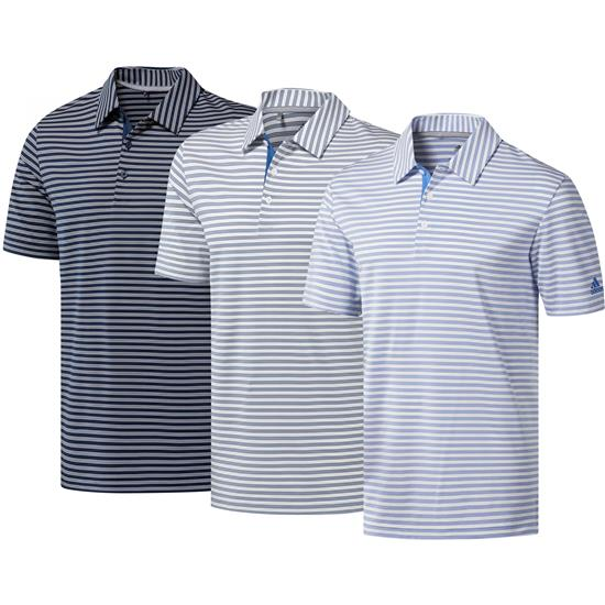 Adidas Men's Ultimate365 Two-Color Stripe Polo