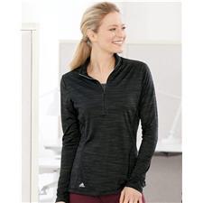 Adidas Custom Logo Women's Lightweight Melange Quarter - Zip Pullover