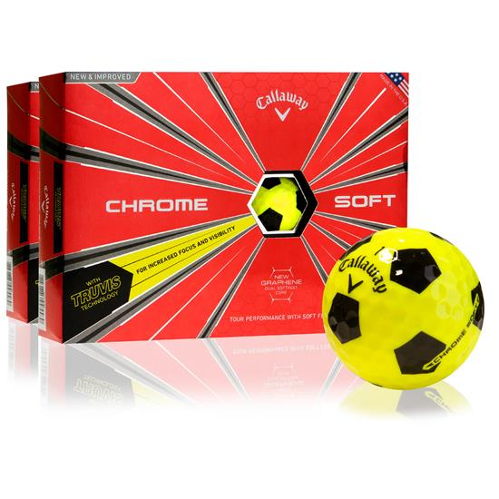 Callaway Golf Chrome Soft Truvis Yellow Golf Ball - 2 Dozen