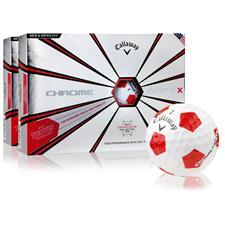 Callaway Golf Chrome Soft X Truvis Red Golf Balls - 2 Dozen