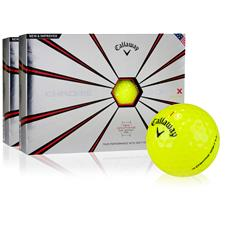 Callaway Golf Chrome Soft X Yellow Golf Balls - 2 Dozen