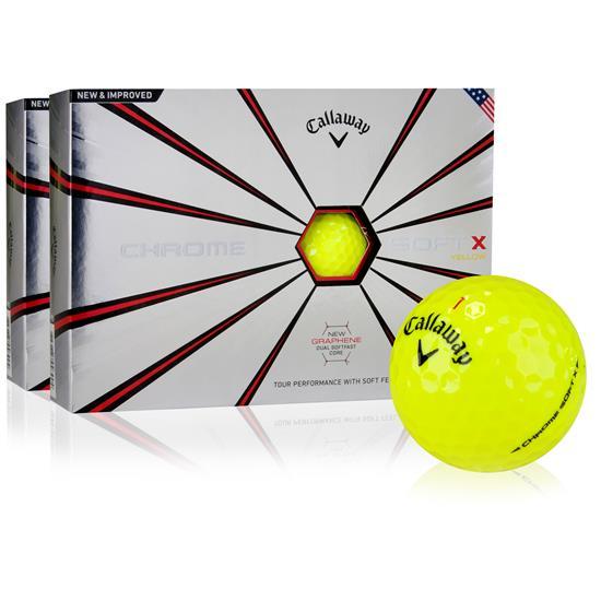 Callaway Golf Chrome Soft X Yellow Golf Balls - 2 Dozen