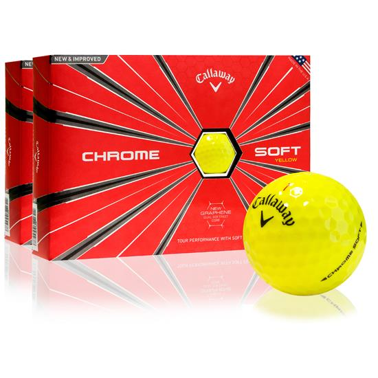 Callaway Golf Chrome Soft Yellow Golf Balls - 2 Dozen