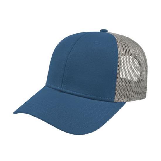 Custom Logo Men's Low Profile Trucker with Modified Flat Bill Cap