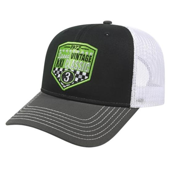Custom Logo Men's Modified Flat Bill w/ Mesh Back Cap