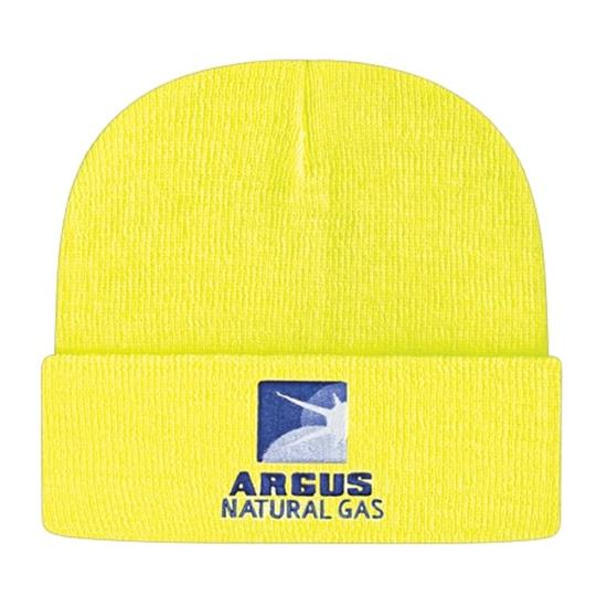 Custom Logo Men's Pro-Rib Tompkin Knit Cap With Cuff