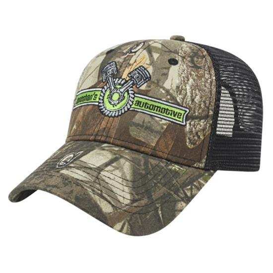 Custom Logo Men's Solid Color Mesh Back Next G2™ Camo Cap