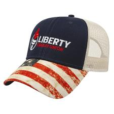 Custom Logo Custom Logo Sublimated Flag Visor Cap with Mesh Back