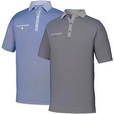 FootJoy Men's Prev. Season Birdseye Jacquard Circle Print Polo