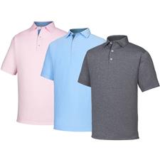 FootJoy Men's Heather Lisle w/ Houndstooth Self Collar Polo