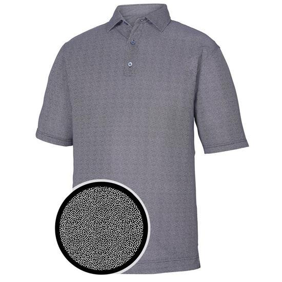 FootJoy Men's Prev. Season Lisle Dot Print Self Collar Polo