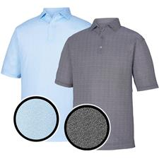 FootJoy Men's Prev. Season Lisle Dot Print Self Collar Polo