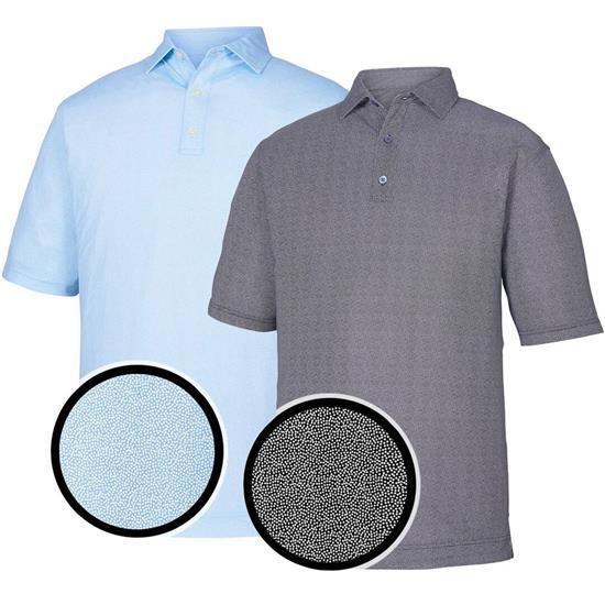 FootJoy Men's Lisle Dot Print Self Collar Polo