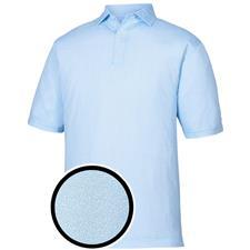 FootJoy Sky-White Lisle Dot Print Self Collar Polo
