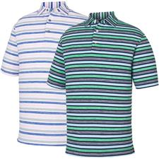 FootJoy Men's Prev. Season Lisle Melange Stripe Self Collar Polo