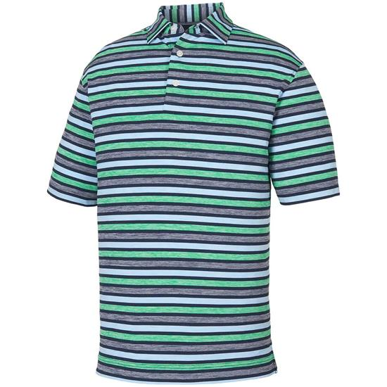 FootJoy Men's Lisle Melange Stripe Self Collar Polo
