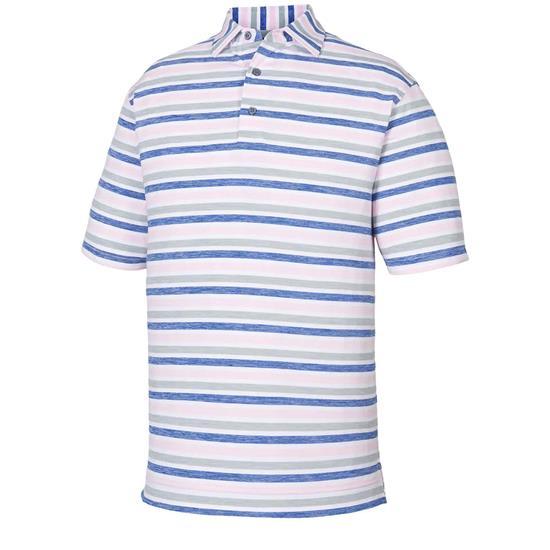FootJoy Men's Lisle Melange Stripe Self Collar Polo