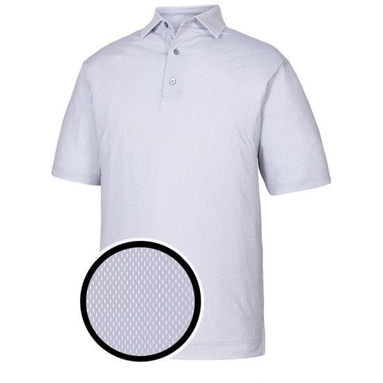 FootJoy Men's Lisle Neat Print Self Collar Polo