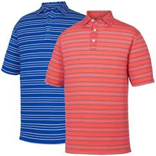 FootJoy Men's Lisle Outlined Stripe Self Collar Polo