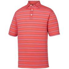 FootJoy Geranium Lisle Outlined Stripe Self Collar Polo