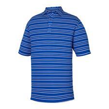 FootJoy Ultramarine Lisle Outlined Stripe Self Collar Polo