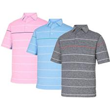 FootJoy Men's Prev. Season Lisle Space Dye Engineer Stripe Polo