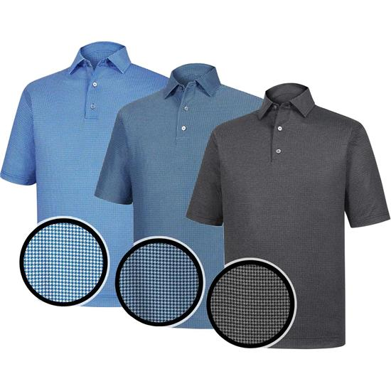 FootJoy Men's Performance Heather Lisle Houndstooth Collar Polo