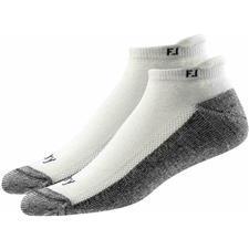 FootJoy Men's ProDry Roll Tab Socks - 2 Pack - White - Standard