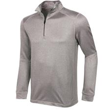 Greg Norman Men's Heathered Herringbone 1/4 Zip Mock Pullover