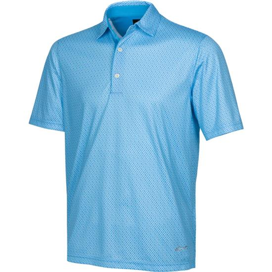 Greg Norman Men's ML75 2 Below Micro Paisley Print Polo