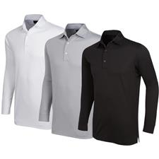 Greg Norman Men's ProTek ML75 Microlux 2 Below Long Sleeve Polo
