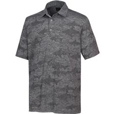 Greg Norman Men's Shark Jacquard Polo