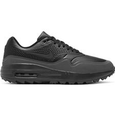 Nike Black-Black-Metallic Silver Air Max 1G Golf Shoes for Women