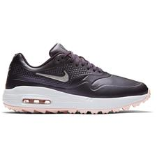 Nike Gridiron-Metallic Silver-Echo Pink-White Air Max 1G Golf Shoes for Women