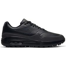 Nike Black-Black-Metallic Silver Air Max 1G Golf Shoes
