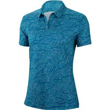 Nike Green Abyss-Green Abyss Dri-Fit UV Short Sleeve Fairway Polo for Women