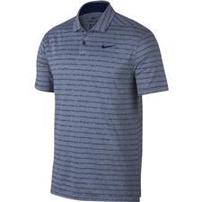 Nike Blue Void-Pure-Blue Void Dri-Fit Vapor Stripe Polo