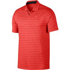 Nike Habanero Red-Pure-Habanero Red Dri-Fit Vapor Stripe Polo