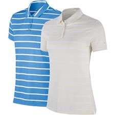 Nike Small Dry Short Sleeve Stripe Polo for Women