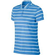 Nike University Blue Dry Short Sleeve Stripe Polo for Women