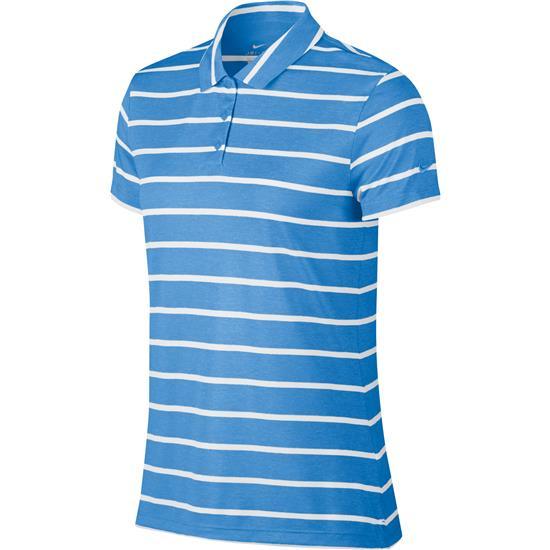 Nike Dry Short Sleeve Stripe Polo for Women