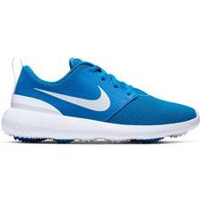 Nike Battle Blue-Metallic White-White Roshe G Junior Golf Shoes