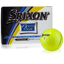 Srixon Q-Star Tour 2 Yellow Personalized Golf Balls
